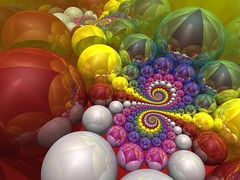 Sphere Packing (fdecomite) Tags: stone spiral java 3d packing pit sphere virtual math inversion doyle flush rendering spirale mobius povray riemann spriral imagej