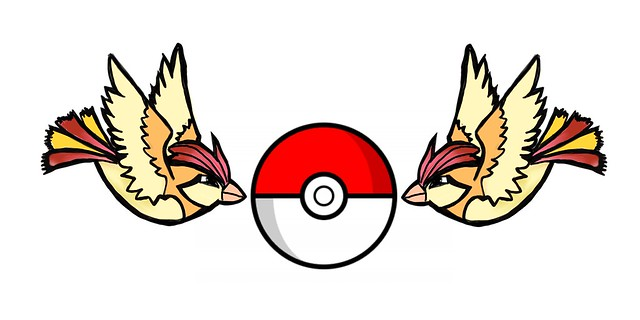 Tattoos for kids: Pidgeotto. Styled after the classical sailor's tattoo's of