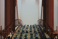 Passing Fog (A Sutanto) Tags: sf sanfrancisco california ca bridge usa cars fog america day crossing traffic busy goldengatebridge norcal ggb anawesomeshot