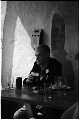 Springtime at The VNU. (VEB Zardoz the Gravyboat) Tags: uk portrait people blackandwhite bw sun film apple beer southwales wales analog canon mono spring mac pub noiretblanc unitedkingdom britain cymru grain drinking photojournalism documentary bn software iphoto converted welsh analogue merthyrtydfil nikkor schwarzweiss ritratto manualfocus 黑白 springtime sunnyday reportage merthyr 白黒 documentaryphotography colourfilm canoneos1nrs southwalesvalleys nikkor35mm peopleinpubs blancenegre светотенево mexicanfandango
