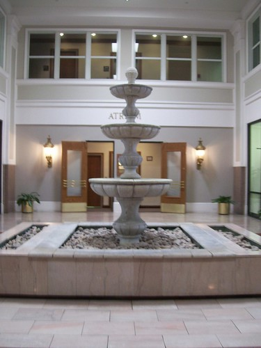 fountain in a building
