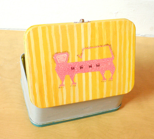 Hungry Monsters Lunchbox- open lid