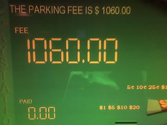 parking in los angeles. (Shana Marie) Tags: cameraphone california green funny hollywood target omg outrageous parkingstructure parkingfee 1060 shanakraynak labreasantamonica