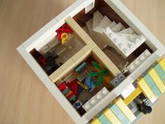 The Lion Pub (6) (Mad physicist) Tags: city england bar town pub apartment lego interior modular british minifigure modularbuilding