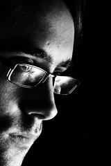 ... And This Is Why I Need A Softbox (Felix Neiss) Tags: portrait bw selfportrait reflection face glasses blackwhite gesicht sw brille 2008 reflektion selbstportrt g9 schwarzweis strobist offcameralighting 1light neiss entfesseltesblitzenfelix