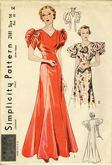 simplicity gown 2181 (carbonated) Tags: vintage 1930s dress sewing patterns simplicity gown fancydress partydress