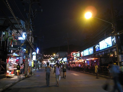 Bangla Road by night