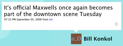 Maxwell's Reopening Rumor