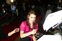 Teen Star Emma Roberts Signs autographs for the fans outside of Ryerson University Theater before the TIFF 08 Premiere of Lymelife (christopherharte) Tags: toronto sexy film festival ryerson star emma international teen roberts premiere fest 2008 tiff 08 unniversity lymelife