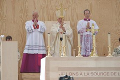 Pope Benedict XVI Celebrates Mass In Paris