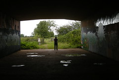 Nr Tiverton Parkway Station, Devon (DG Jones) Tags: silhouette underpass dad devon ruraldecay westcountry tiverton tivertonparkway