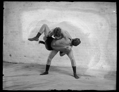 Wrestling (George Eastman House) Tags: bw men sport wrestling 1900 wrestlers georgeeastmanhouse vintagewrestling color:rgb_avg=979797 williammvanderweyde geh:accession=197400560235