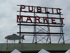 Public Market Sign (deplaqer) Tags: seattle washington publicmarket