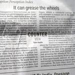 Corruption makes economies efficient, op-ed, Times of India, Mumbai, India.JPG thumbnail