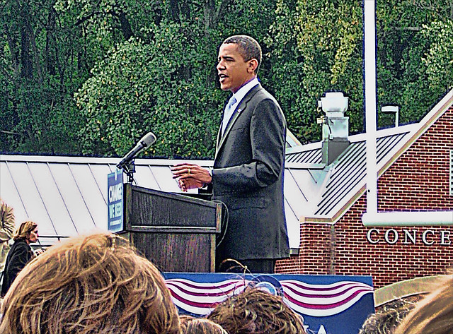 Obama at Abington High School 10-3-08