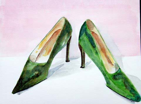 Green shoes, by Carlos