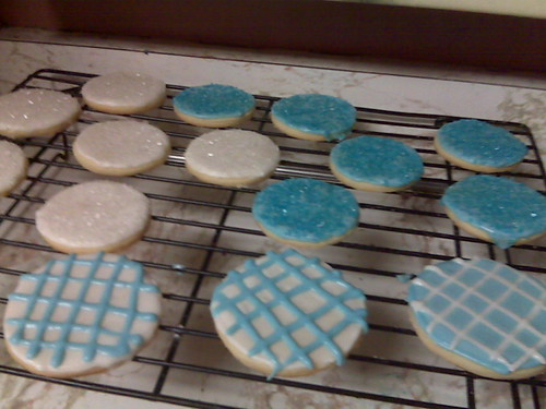 Blue & White Sugar Cookies