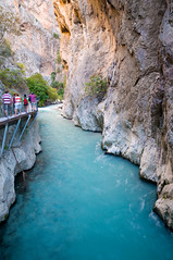 Saklikent Gorge in southern Turkey (canbalci) Tags: turkey river wonder rocks natural tourist canyon valley ravine gorge slot feature attraction cleft fethiye saklikent mediterranenan