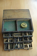Watchmaker's box of parts (Racklever) Tags: movement watch repair pocketwatch watchmaker fusee horology