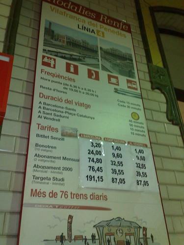 El menú diari de la RENFE