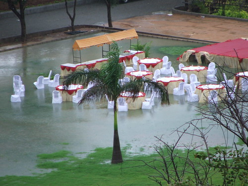 Party canceled after heavy downpour