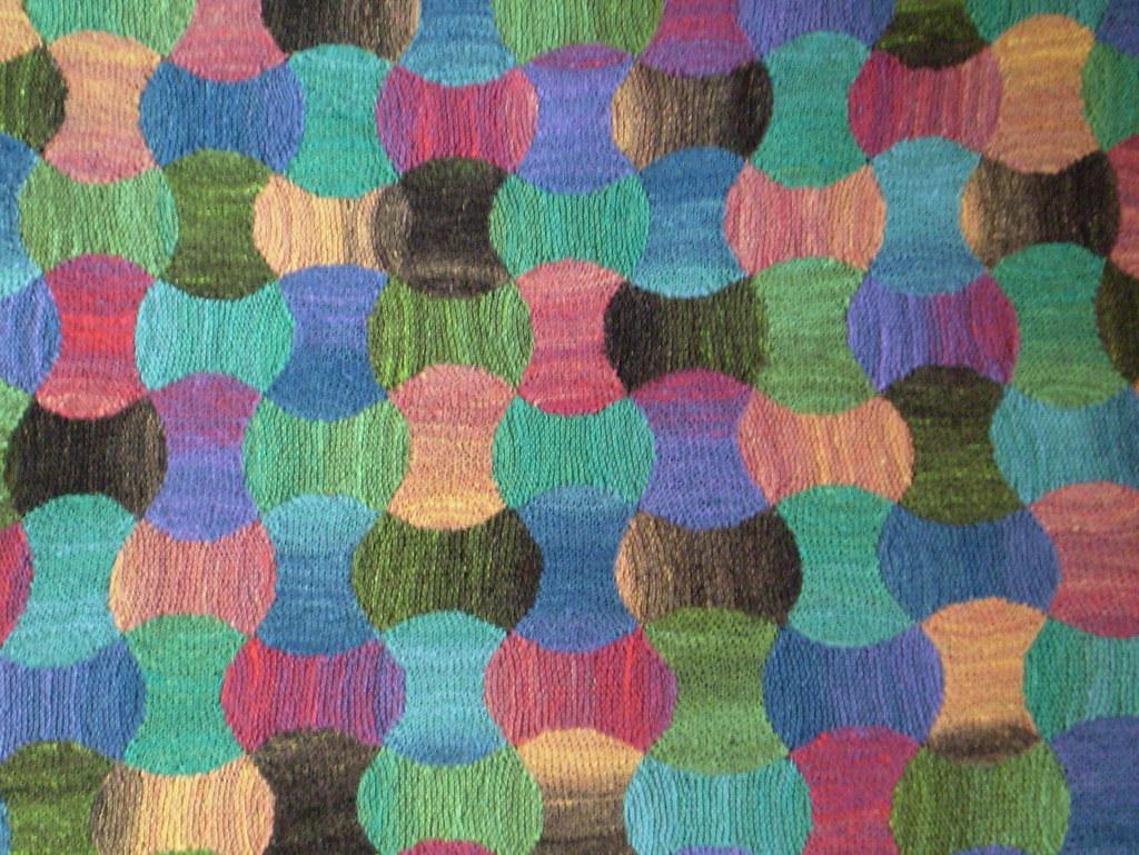 схема вязание травкой плед