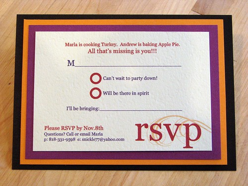 Show Me Your RSVP Cards Im Nearly Done Designing My Invitations