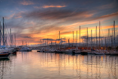 Yacht Shopping (Philipp Klinger Photography) Tags: light sunset red sea vacation sky cloud sun holiday money reflection water yellow clouds port marina photoshop reflections germany island deutschland islands evening harbor boat spain europa europe mediterranean searchthebest harbour yacht pole espana german poles ropes mallorca palma philipp spiegelung hdr spanien baleares balearen palmademallorca balearic espanya balears klinger photomatix illes colorphotoaward aplusphoto infinestyle colourartaward dcdead hdraward vosplusbellesphotos nikonflickraward50mostinteresting