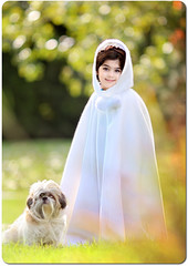 (mylaphotography) Tags: dog white green grass puppy toddler child bokeh shihtzu cape snowwhite 135mm rahi mylaphotography