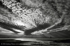 (scifitographer) Tags: ocean statepark sunset blackandwhite bw lighthouse white black beach clouds de coast 2006 delaware lewes capehenlopen bethanthony retroreflectography