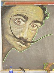 dali chalk drawing (andres musta) Tags: from chalk drawing images salvador dali various chalkboard andres classrooms musta