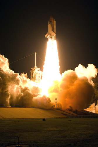 Space Shuttle Night Launch -- NASA Image