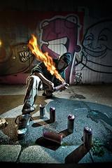 Doktor Cyclops (Csheemoney) Tags: lighting urban fire lights graffiti paint character culture cyclops spray crew belgrade strobe spraycan doktor fak sigma1020 nemanja strobist pesic nostrobistinfo cshee csheemoney removedfromstrobistpool seerule2