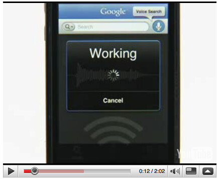 Google voice search for iPhone