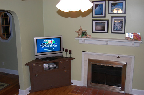 TV Cabinet and Mantel