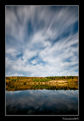 Steam Mills Lake. (numanoid69) Tags: uk longexposure autumn england lake water forest reflections pond gloucestershire forestofdean bej nikond300 steammillslake bwnd110filter