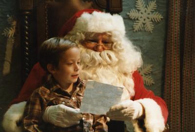 Me Reading My Christmas List to Santa Claus