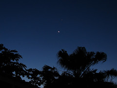 Have you watched the smiley face tonight on the sky? (Tatters ) Tags: sky moon funnyface smile face night backyard funny venus australia brisbane smiley planets astronomy nightsky jupiter conjunction