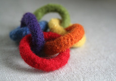 felted baby rings - color wheel (Leah 3011) Tags: christmas felted etsy babytoy