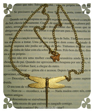 OLD GOLD DRAGONFLY NECKLACE