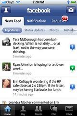 Hey Facebook iPhone app!