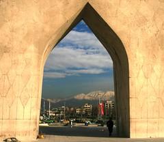 mehrab tehran (yashar_z) Tags: sky cloud mountain tower iran tehran  azadi  mehrab