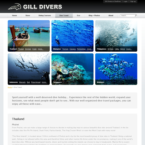Gill Divers - Dive Travel