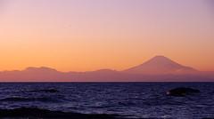 Izu Peninsula and Mt.Fuji in the gloaming (Masahiko Kuroki (a.k.a miyabean)) Tags: sunset sea   mtfuji gloaming tateishi  pentaxk20d