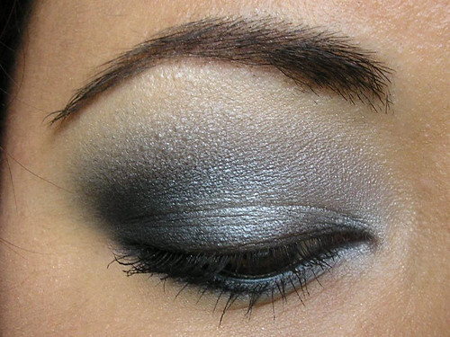 Silver, Grey & Black Smoky Eye Closeup