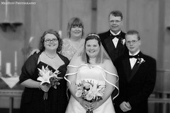 Bride and Family.bw (meghuff) Tags: wedding august iowa picnik mhp ejwedding