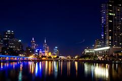 New Years Eve in Melbourne City (bgladman) Tags: city longexposure bridge skyline buildings river photography lowlight nikon cityscape nightlights australia melbourne wideangle newyearseve yarra d300