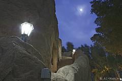 Moon Light (ZiZLoSs) Tags: light sky moon tree canon dark eos cave kuwait 1855mm abdulaziz  450d zizloss  almanie photoziz