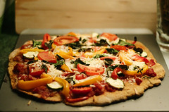 what's for dinner? // mediterranean sweet potato pizza (vegan) (dothezonk) Tags: food cheese dinner tomato crust 50mm vegan yummy italian mediterranean yum rice oven bokeh tasty pizza potato foodporn vegetarian basil sweetpotato iatethis wholewheat meatless