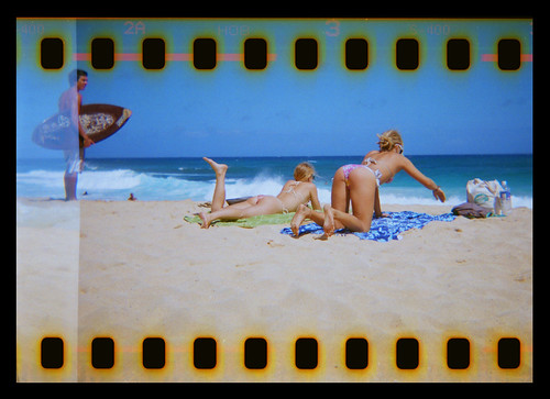Sandy Beach Hawaii Holga 35mm